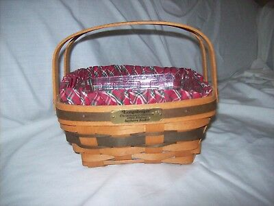Longaberger 1993 Christmas Edition Bayberry Basket - Liner & Protector
