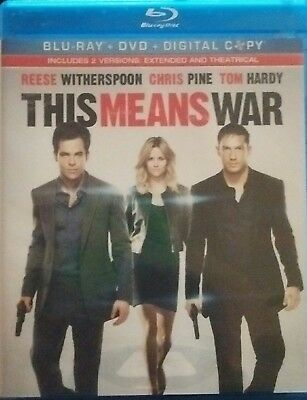 This Means War (Blu-ray Disc) Like New.... Read Description......