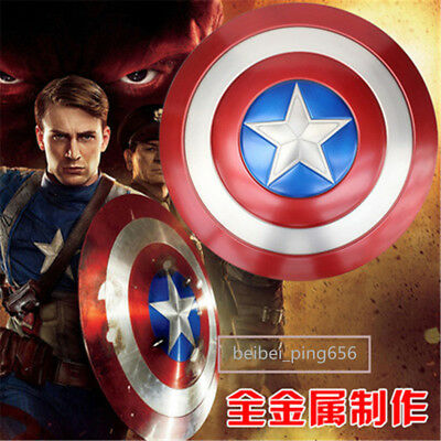 Captain America Shield 1:1 Full Aluminum Metal Shield Cosplay Props