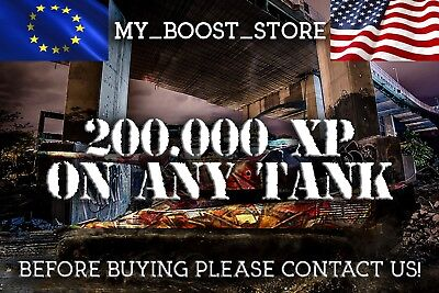 World Of Tanks (WOT) -  200.000 XP on any tank | 2-3 days |NOT BONUS CODE