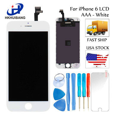For iPhone 6 6S LCD Screen Replacement Touch Digitizer Full Assembly White Black