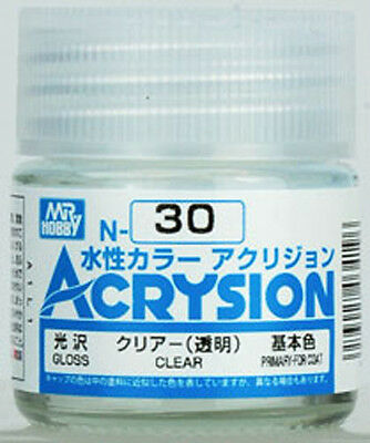 GSI CREOS GUNZE MR HOBBY ACRYSION ACRYLIC N030 N30 Clear COLOR PAINT 10ml NEW