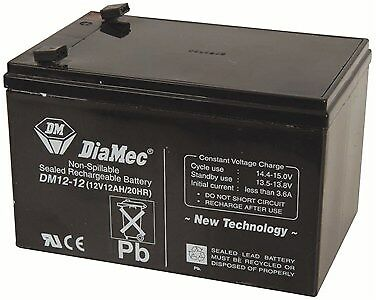 New  Generic 12V 12Ah SLA Battery BSB2489