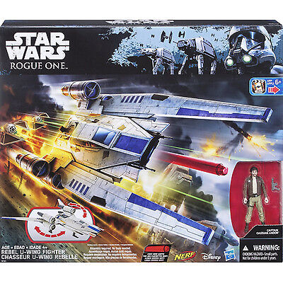 "STAR WARS Rogue One 3.75"" Vehicle Rebel U-Wing Fighter NERF ACTION FIGURE NEW"