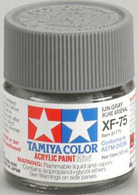 TAMIYA COLOR ACRYLIC XF-75 IJN Gray Kure Arsenal MODEL KIT PAINT 10ml NEW