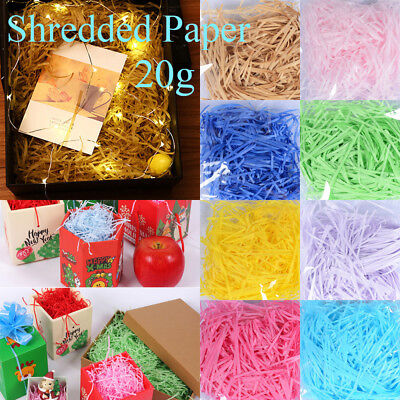 Fashion Colorful Raffia Shredded Paper Gift Box Filler Craft  Crinkle Cut Paper
