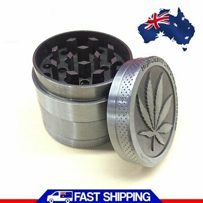 Metal Hand Herb Tobacco GRINDER 4-Layers Smoke Muller 40mm Chromium Crusher New