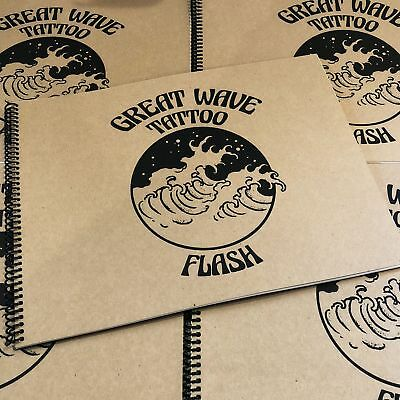 Great Wave Tattoo Flash DING & DENT - Tattoo Flash Book