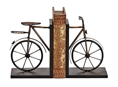 Bellaa 20850 Bicycle Bookends Pair in Metal 8.3 inches High x 6.3 inches Cycling