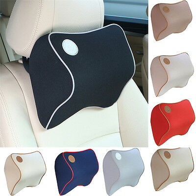 Car Seat Headrest Pad Memory Foam Travel Pillow Head/Neck Rest Support Cushion!!