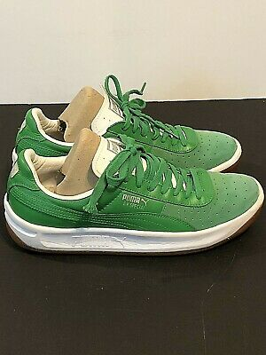 competitive price 4faac 94129 PUMA CLASSIC GV Special Green & White Leather Shoes Mens SZ 9.5