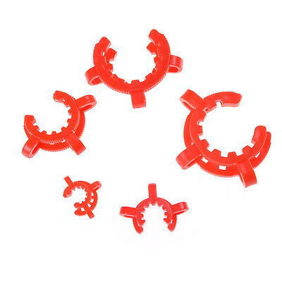 10PCS Plastic Lab Clamp Clip Keck For Glass Ground Joint Multiple Size LJ