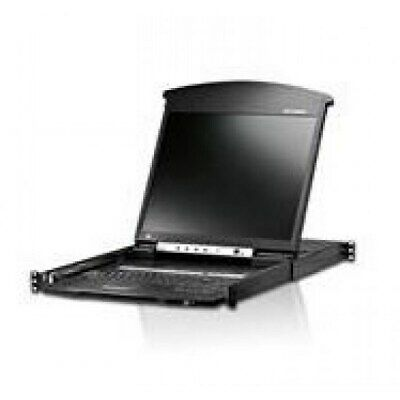 """8-Port Cat 5 Dual Rail 19"""" LCD KVM over IP Switch with Daisy-Chain Port - [ ATEN"""