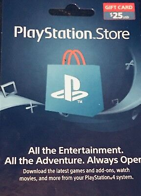 $25 US PlayStation Store PSN Gift Card MAIL DELIVERY ONLY/FREE SHIPPING TRACKING