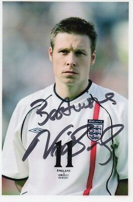 NICK BARMBY Signed 6x4 Photo ENGLAND & HULL CITY Legend COA