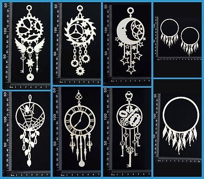 White Chipboard Embellishments - Dreamcatchers - Collection One