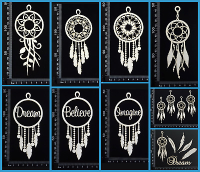 White Chipboard Embellishments - Dreamcatchers - Collection Two