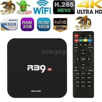 Docooler R39 Android8.1 TV Box RK3229 Quad Core 4K 2G 16G WiFi H.265 Media U7X9