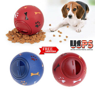 Dog Puzzle Toy Tough1 Treat Ball Pet Fun Mental Food Dispenser Interactive Play