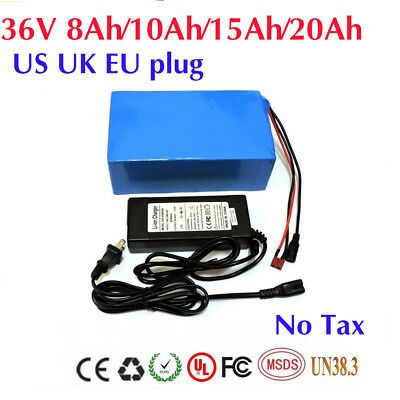 36V 8/10/15/20Ah 18650 Cells Li-oin Battery Pack for Electric Bike with PVC Case