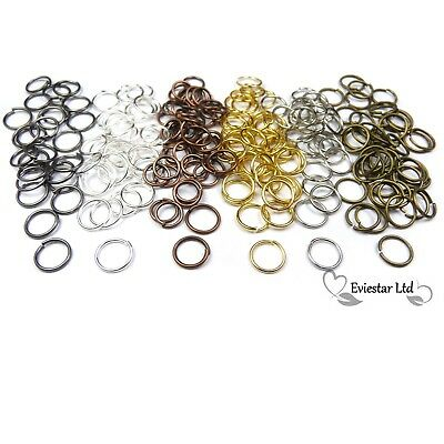 Jump Rings Silver, Gold, Bronze, Copper, Gunmetal 4 5 6 7 8 10mm  AKB