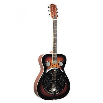 Savannah SR-200-SN Chicago Blues Resonator Guitar, Sunburst Multi-Coloured