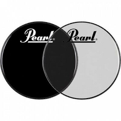 Pearl Logo Front Bass Drum Head Ebony 60cm. Shipping Included