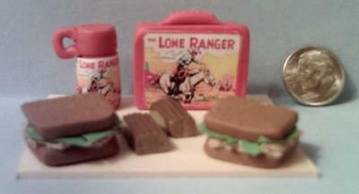 Barbie Doll Sized The Lone Ranger Vintage Style Lunch Box Set