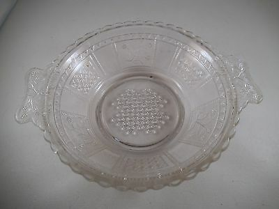 Vintage EAPG Bryce US Clear Glass Paneled Forget Me Not Butter Dish Base