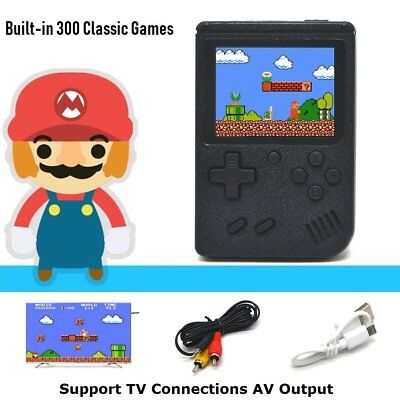 3 inch Portable Handheld Console Player Built in 300 Games Consoles TV AV Output