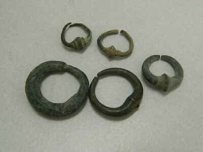 Ancient Bactrian C.300 BC Bronze 5 Earings ###GL1706###
