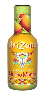 Arizona Iced Tea Mucho Mango - Made with Real Sugar 500ml (Pack of 6)