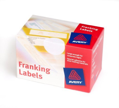 Avery Franking Labels Manual Feed 140x38 FL01 (1000 Labels) NUEVO