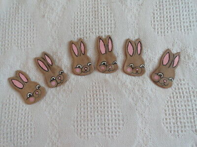Set of 6 Easter Bunny Primitive Chocolate Bowl Fillers
