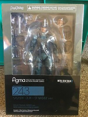 Figma Metal Gear Solid 2 SOLID SNAKE MGS2 ver. 243 Action Figure MSIB