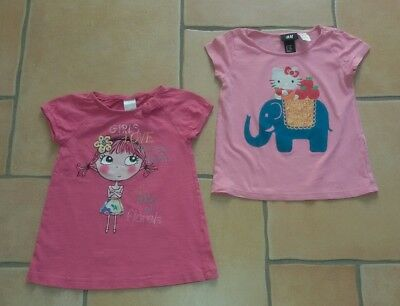 dbbe48481aa4d3 2 SÜSSE MÄDCHEN T-shirts Top H&M C&A Palomino Hello Kitty Gr. 98 104 ...