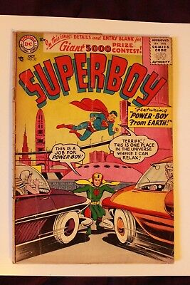 DC Comics SUPERBOY N52 octàber 1956 power boy from earth SILVER AGE  superman