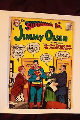 DC Comics SUPERMAN 'S PAL N25 december 1957 the day there was jim... SILVER AGE