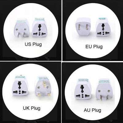 NEW EU Europe Euro AU USA US UK Travel Charger Power Wall Plug Adapter Converter