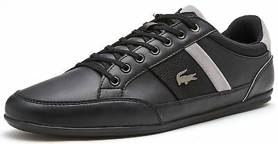 Lacoste Chaymon 318 1 CAM Trainers in Black & Grey 736CAM0008 231
