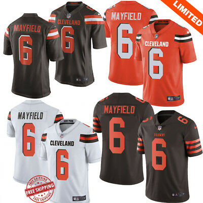 29878b880fc23 Baker Mayfield  6 Cleveland Browns Men s Jersey Authentic stitched 4 Color  S-3XL