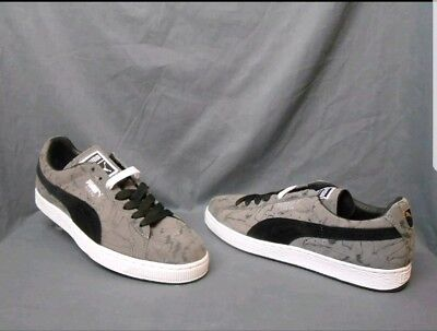 on sale 45d5f 9ecec Puma Suede Brush Embossed Low Suede Steel Gray/Black/White Men's size 9 NEW