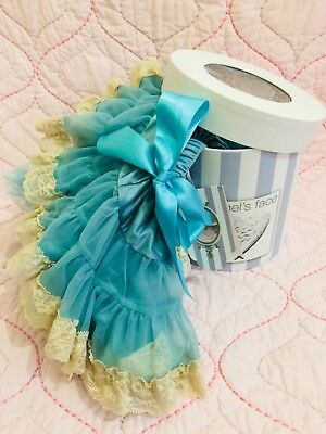 ANGEL'S FACE, BRAND NEW in BOX GIRLS OCEAN LACE PETTI SKIRT, age 0-1 year