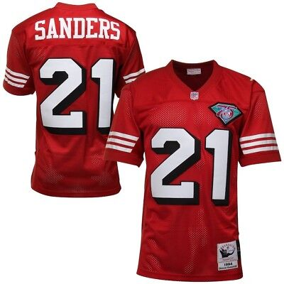 2d81ee86fb2 100% Authentic Deion Sanders Mitchell Ness 1994 49ers NFL Jersey Size Mens  44 L