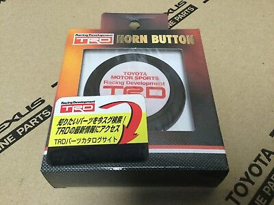 Rare Discontinued TRD Toyota White Horn Button Momo Sparco Nardi Personal Izumi
