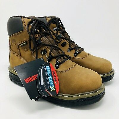 eed816c145d WOLVERINE WORK BOOTS Mens Peakflex Waterproof Steel Toe 6