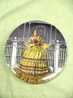 "Gone With The Wind Plate 1744 D , ""melanie""  1980 Third Edition, 8 Inch"