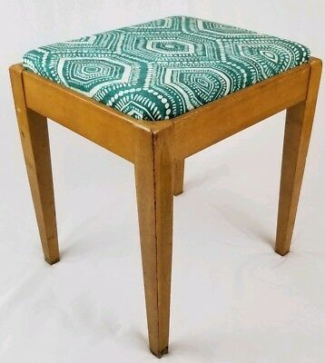 Mid-Century Danish sewing bench chair vanity seat stool with storage Vintage