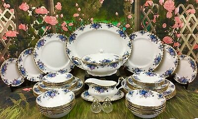 Royal Albert 'Moonlight Rose' Set For 10 People Dinner Service - 1st Quality