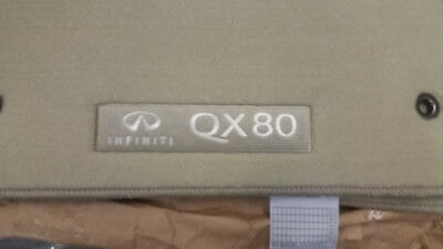 2014 to 2017 Infiniti QX80 Factory Cartpeted Floor Mats -For 2nd Row Bench Seat